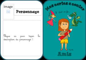 Production d'écrit - Les cartes à conter
