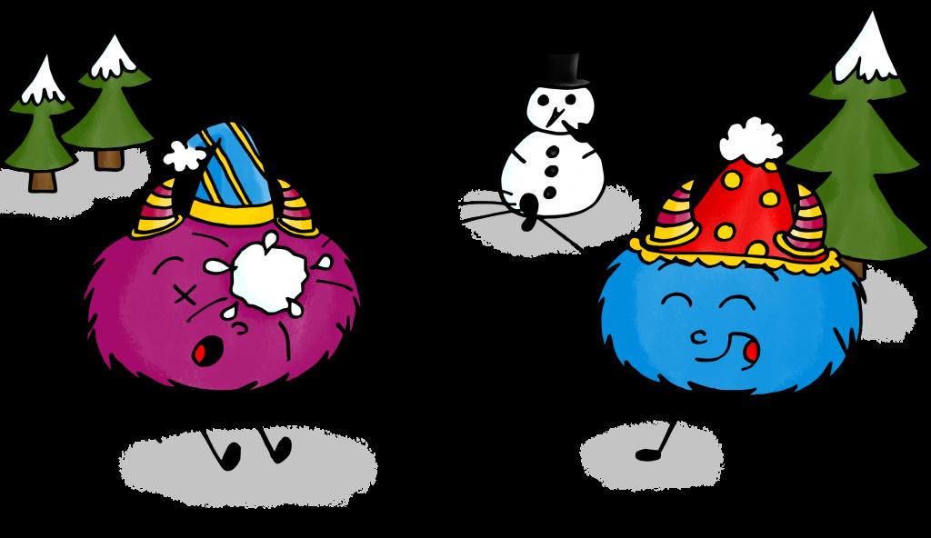 dessin mystik's bataille boules de neige