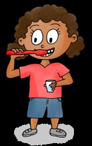 dessin se brosser les dents