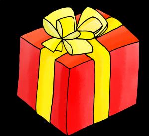 Dessins sur le thème de Noël - Le cadeau