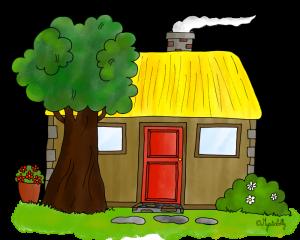 Dessin - La chaumière ou la maison