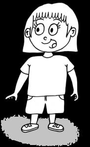 dessin fille qui parle