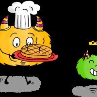 dessin mystik's mange la galette des rois