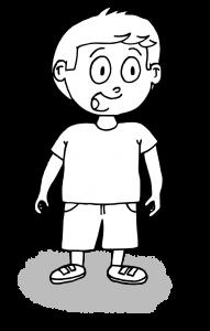dessin garçon qui parle