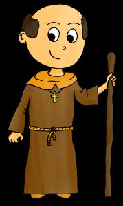 Dessin Moyen Âge moine