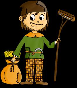 Dessin Moyen Âge paysan