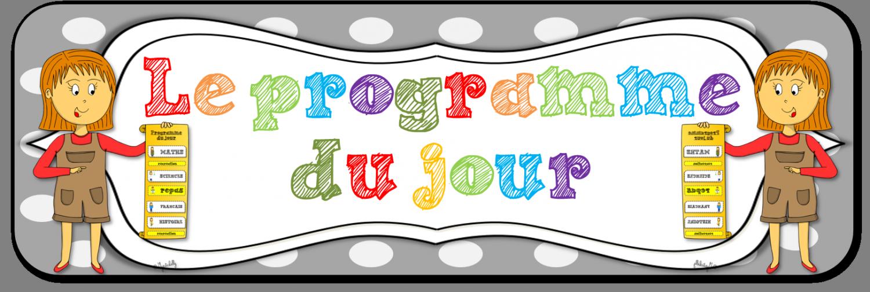Très Programme du jour – Organisation et étiquettes – Le blog de  RL21