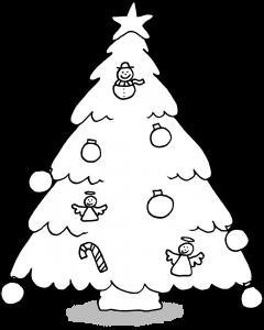 Dessins sur le thème de Noël - Le sapin