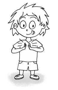 dessin garçon qui tape des mains