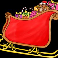 Dessin Noël - Traineau du père noël
