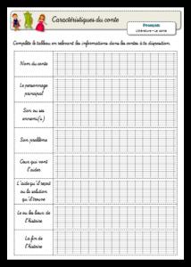 Outils et fiches - Ecrire un conte