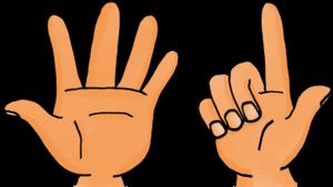 Dessin - les nombres avec les doigts