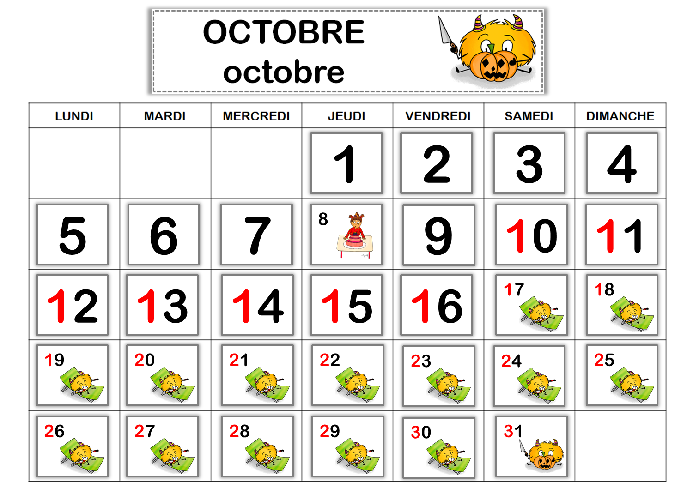 Affichages cycle 1 calendrier perp tuel le blog de for Jour de conges pour demenagement