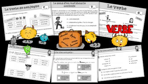 Leçons étude de la langue - vocabulaire grammaire et conjugaison