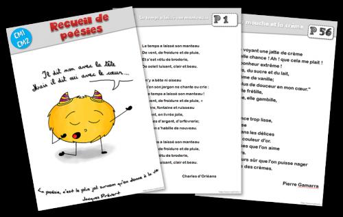 Recueil De Poesies Pour Le Cycle 3 Le Blog De Mysticlolly