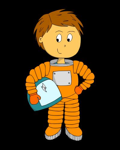 Dessin - Fusée des responsabilités - Astronaute garçon