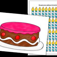 jeux numération gâteau d'anniversaire