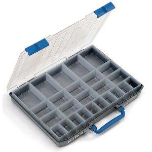 mallette à outils avec compartiments