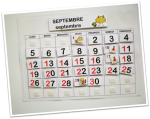 photo calendrier perpétuel septembre