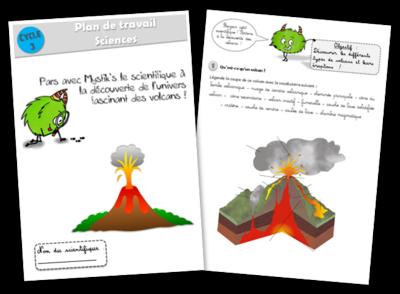 plan de travail sciences volcans