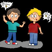 Dessin règles de vie - bagarre et insultes
