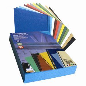 Couvertures cartonnées bleues A4