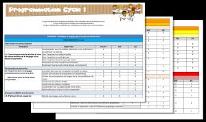 Cycle 1 - Programmations de cycle