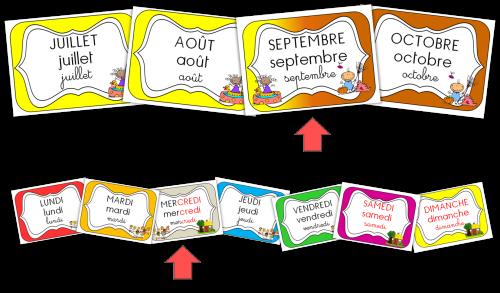 Etiquettes date maternelle