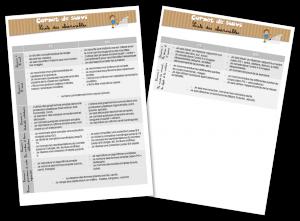 Exemple liste observables carnet de suivi maternelle
