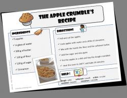 Anglais - apple crumble recette