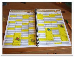 calendrier carnet de bord