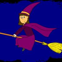 Dessin - sorcière balai