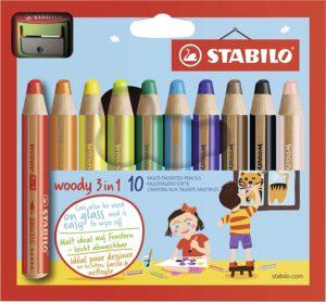 Crayons Woody effaçables à sec