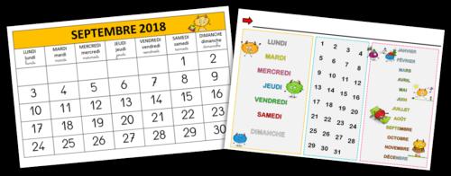 Calendrier Pour La Classe.Cycle 1 Le Rituel De La Date Le Blog De Mysticlolly