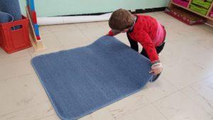 Pédagogie des espaces - dérouler le tapis