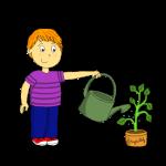 Dessin - Le responsable des plantes