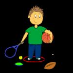Dessin - Le responsable du matériel de sport