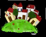 Dessin - Le village