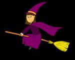 Dessin - sorcière balai sans fond